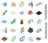 brand icons set. isometric set...   Shutterstock .eps vector #767820484