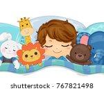 illustration of a kid boy... | Shutterstock .eps vector #767821498