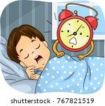 illustration of a kid boy... | Shutterstock .eps vector #767821519