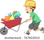 illustration of a kid boy... | Shutterstock .eps vector #767822014