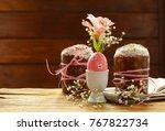 easter symbols food   easter... | Shutterstock . vector #767822734