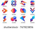 modern minimal vector logo for... | Shutterstock .eps vector #767823856