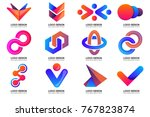modern minimal vector logo for... | Shutterstock .eps vector #767823874