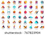 modern minimal vector logo for... | Shutterstock .eps vector #767823904