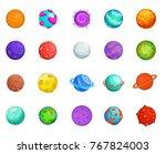planet icon set. cartoon set of ... | Shutterstock .eps vector #767824003