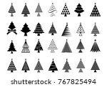 christmas tree icon set | Shutterstock .eps vector #767825494