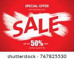 sale banner layout design | Shutterstock .eps vector #767825530