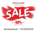 sale banner layout design | Shutterstock .eps vector #767825533