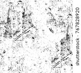 monochrome grunge seamless... | Shutterstock . vector #767828920
