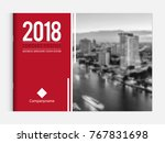 business brochure cover design... | Shutterstock .eps vector #767831698
