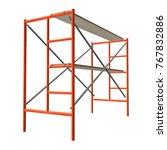 scaffolding metal construction...   Shutterstock . vector #767832886