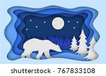 polar bear  against the... | Shutterstock .eps vector #767833108