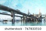 3d rendering water world the... | Shutterstock . vector #767833510