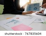 business team meeting to...   Shutterstock . vector #767835604