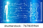 abstract background technology... | Shutterstock .eps vector #767835964