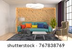 interior living room. 3d... | Shutterstock . vector #767838769