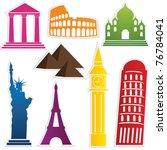 travel label set vector | Shutterstock .eps vector #76784041