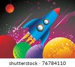 spaceship vector illustration   Shutterstock .eps vector #76784110
