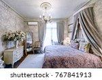Stylish Bedroom Interior With...