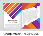 abstract vector layout... | Shutterstock .eps vector #767849956