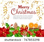 christmas decoration red... | Shutterstock .eps vector #767853298