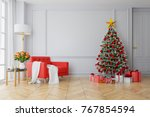 christmas tree decorate on...   Shutterstock . vector #767854594