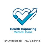 medical vector icon. heart... | Shutterstock .eps vector #767855446