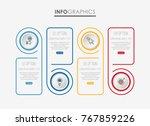 modern info graphic template... | Shutterstock .eps vector #767859226