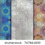 abstract patterned  shabby... | Shutterstock . vector #767861830