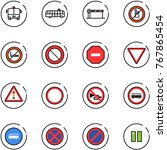 line vector icon set   airport... | Shutterstock .eps vector #767865454