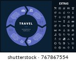 travel infographic template ...