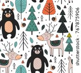 Seamless Pattern With Animals...