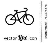 bike vector icon | Shutterstock .eps vector #767876578