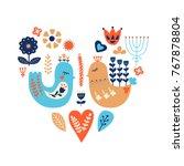 nordic ornaments  folk art... | Shutterstock .eps vector #767878804