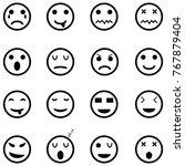 emotion icon set | Shutterstock .eps vector #767879404