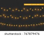 christmas lights  xmas... | Shutterstock .eps vector #767879476
