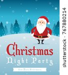 merry christmas party style... | Shutterstock .eps vector #767880214