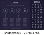 startup options infographic... | Shutterstock .eps vector #767881756