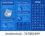 medicine infographic template ... | Shutterstock .eps vector #767881849