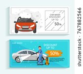 discount offer flyer concept... | Shutterstock .eps vector #767882566