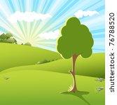 tree on sundown | Shutterstock . vector #76788520