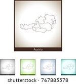 map of austria | Shutterstock .eps vector #767885578