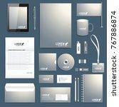 blank set of vector corporate... | Shutterstock .eps vector #767886874