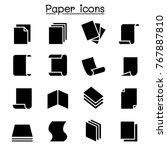 paper icon set vector... | Shutterstock .eps vector #767887810