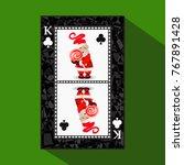 card new year's poker. vector... | Shutterstock .eps vector #767891428