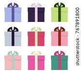 vector christmas gift box | Shutterstock .eps vector #767891800