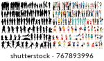 a collection of people... | Shutterstock .eps vector #767893996