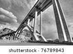 The Bridge by the Hoover Dam in Black and White