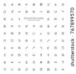 education icon set  minimalism... | Shutterstock .eps vector #767899570