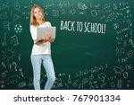 back to school  happy teen...   Shutterstock . vector #767901334